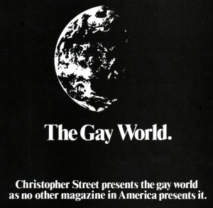 Ad for Christopher Street magazine, 1983