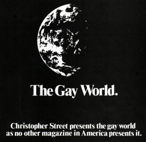 Ad for Christopher Street magazine, 1983