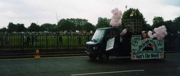 Gay's the Word Van at Pride 85