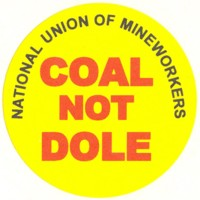 coal not dole sticker