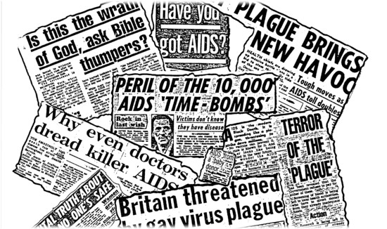 AIDS Press collage