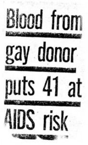 Blood from gay donor